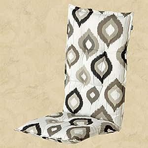 1–Fregadero para sillas con respaldo alto Hartman Dessin Noa en color marrón