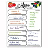 Magnetic 8'' x 10'' Menu Dry Erase Weekly Meal Planner Refrigerator Board With Grocery List And Notes (White Background)