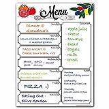 weekly meal planner fridge - Magnetic 8