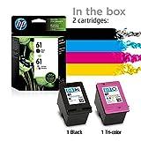 HP 61 | 2 Ink Cartridges | Black, Tri-color
