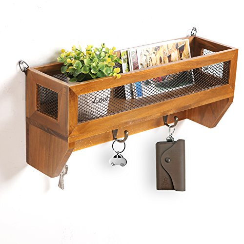 Country Rustic Mounted Storage Basket
