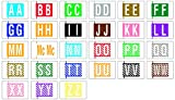 COL-R-TAB COMPATIBLE 69703960 12000 Permanent Color Code Label, Mylar, Alphabet, 1 1/2'' x 1'', Assorted Colors (Pack of 378)