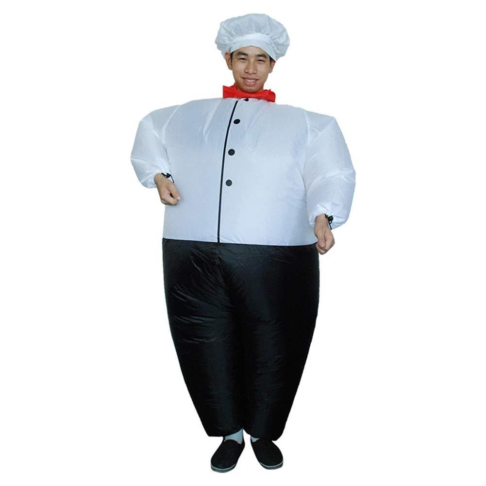 I-JUN Big Fat Chef Costume Diverdeente Tuta Gonfiabile Ventola di Halloween Giocare A Christmas Party Performance Costume Puntelli