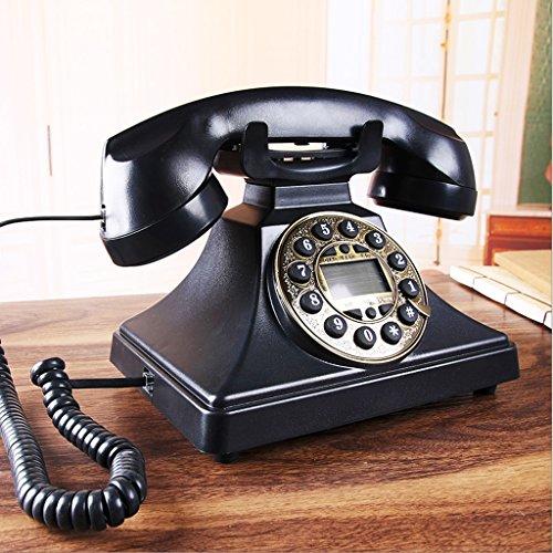 2 Speakerphone Line Hotel (Antique Phone / Buttons The Wired Phone / Home Desk Deskphone / Black Caller ID Speaker Phone L22CM W18CM H20CM)