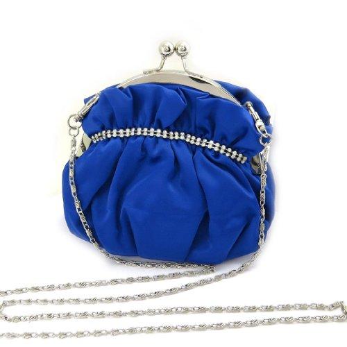 """Bursa sac """"Nina""""rhinestones azules."""