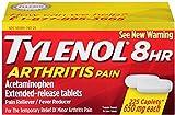 TYLENOL 8 HR Arthritis Pain Extended Release 650 mg Caplets 225 ea (2 Pack)