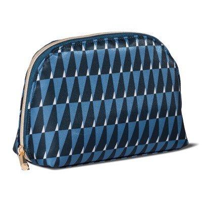 Sonia Kashuk153; Cosmetic Bag Large Organizer Modern Geo Blue