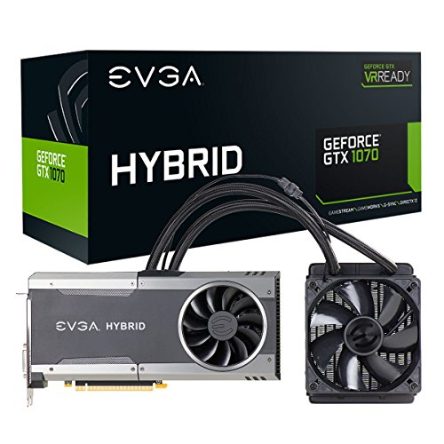 - EVGA GeForce GTX 1070 FTW HYBRID GAMING, 8GB GDDR5, RGB LED, All-In-One Watercooling with 10CM FAN, 10 Power Phases, Double BIOS, DX12 OSD Support (PXOC) 08G-P4-6278-KR