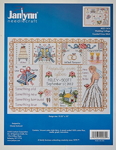 Janlynn 14 Count Wedding Collage Counted Cross Stitch Kit, 1
