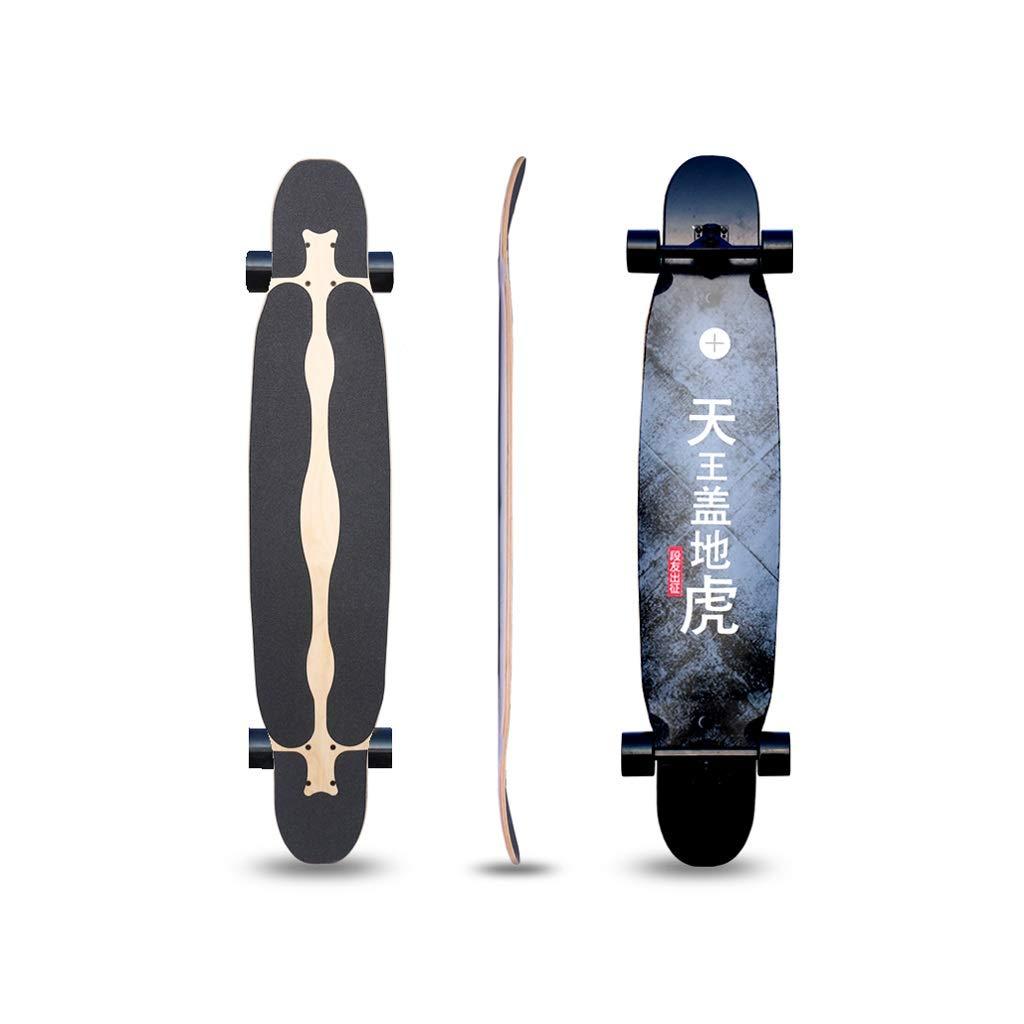 HXGL-Skateboards 47 Inches Longborads Skateboards Complete Skateboard for Beginner Professional Skateboard Brush Street Gift - Connotation (Color : Black)