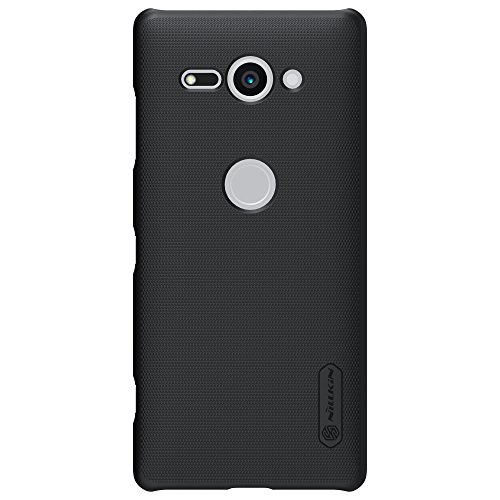 For Xperia XZ2 Compact Case,Nillkin [With Screen Protector] Frosted Shield Anti fingerprints Hard PC Case Back Cover for Xperia XZ2 Compact -Retail Package (Black) ()