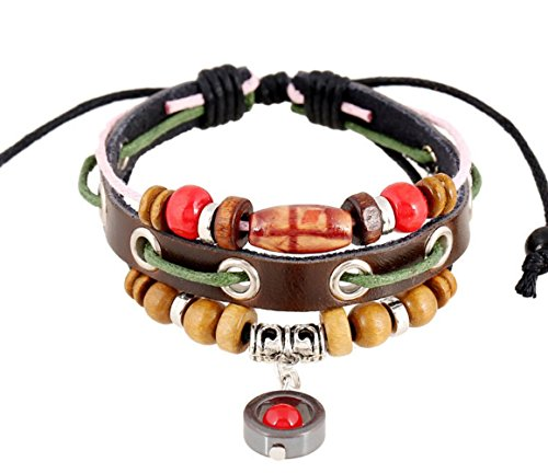 Most Beloved Personalize Colorful Wood Beads Adjustable Unisex Bracelet