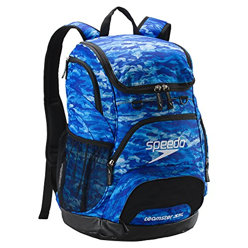 Speedo Printed Teamster 35L Backpack - Blue Oceans, One Size by Speedo (Image #1)