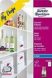 Avery Zweckform MD4001 Flaschenetiketten (A4, 120 x 90 mm) 5 Blatt