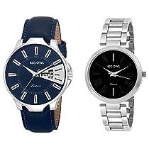 Bigowl Wrist Watch Couple Combo for Men and Women MEN04-WOME
