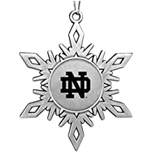 University of Notre Dame Snowflake Ornament Pewter
