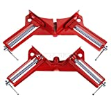 Ochoos DHL 50PCS New 90 Degree Right Angle Clamp 100mm Mitre Clamps Corner Clamp Picture Holder Clamp Clip