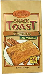 Log House Cinnamon Snack Toast, 6.6 Ounce Bags (Pack of 12)