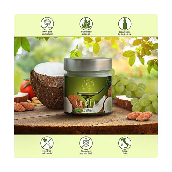Olio di Cocco Pressato a Freddo 220ml - Indonesia - Extra Vergine - 100% Puro e Naturale - Miglior per ad Uso Alimentare 2 spesavip