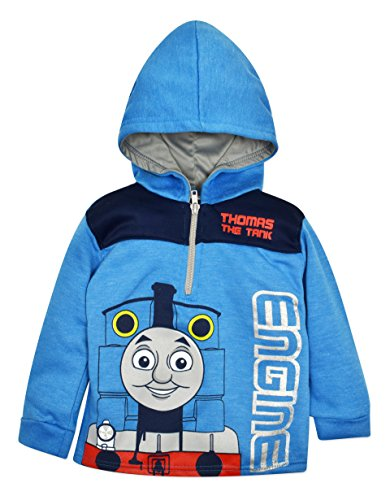 Thomas The Tank Toddler Boys' Half Zip Pullover Hoodie Blue (4T)]()