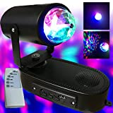 LED Rotating Disco Party Bulb - Built in Speaker - Play music from USB drive - LED Moving Head Beam - Party Light