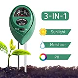 VIVOSUN Soil Tester, 3-in-1 Plant Moisture Meter Light and PH Tester for Home, Garden, Lawn, Farm, Indoor & Outdoor Use, Promote Plants Healthy Growth