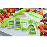 Lily.N, 12 PC Super Slicer Plus Vegetable Fruit Peeler Dicer Cutter Chopper Nicer Grater
