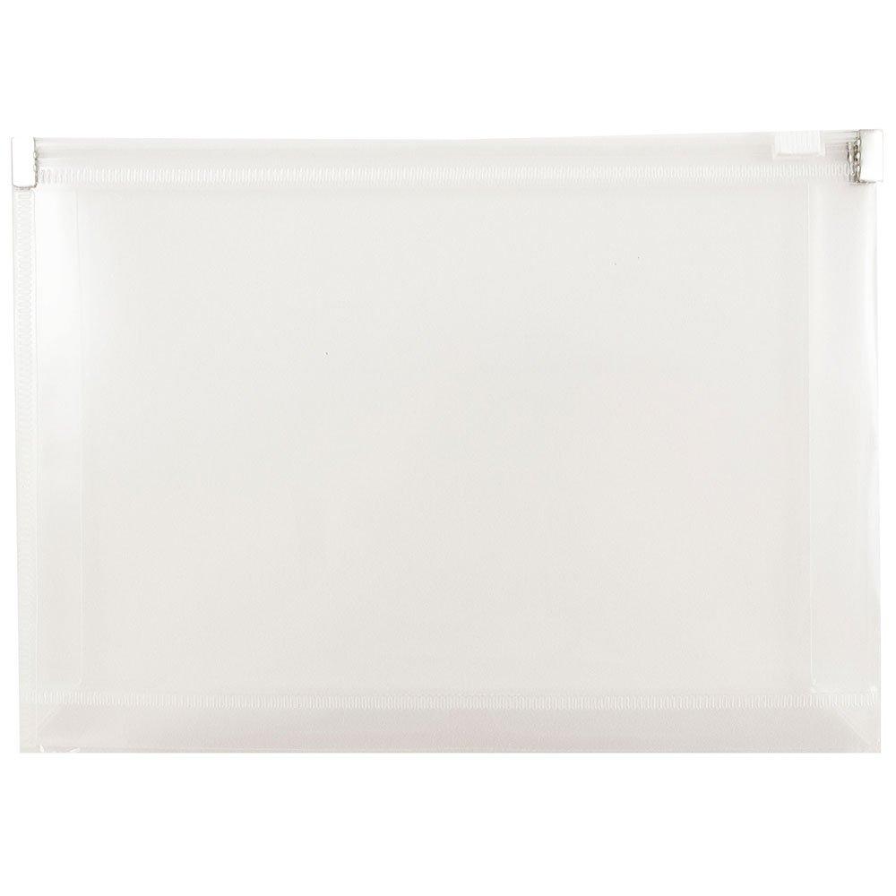 JAM PAPER Plastic Envelopes with Zip Closure - Index - 5 1/4 x 8 - Clear - 12/Pack JAM Paper & Envelope