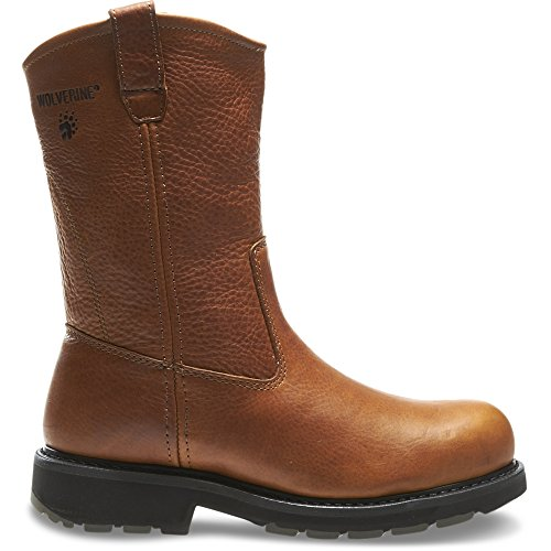 Price comparison product image Men's Wolverine Herrin - Wolverine Slip Resistant Steel-Toe EH Wellington (11.5 EW in Brown)