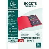 Rainex Paquet de 100 chemises Rock's carte 220 grammes 24x32 Bleu Roy