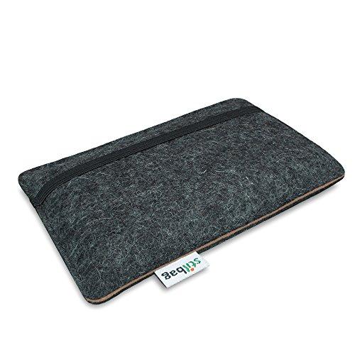Stilbag Filztasche 'FINN' für Apple iPhone 6 - Farbe: anthrazit/braun