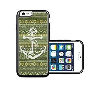 RCGrafix Brand Green Aztec White Anchor iPhone 6 Case - Fits NEW Apple iPhone 6