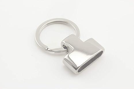 Llavero de metal resistente con anillas divididas para cinta ...