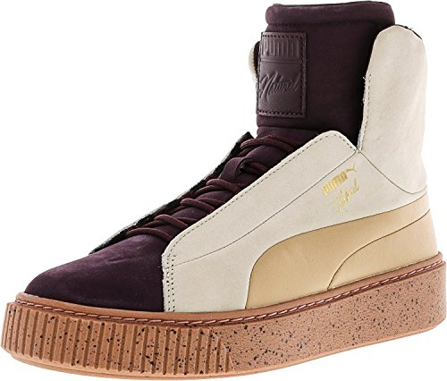 Puma Damesplatform Fshn Naturel High-top Fashion Sneaker Wijnrood / Eierpunch
