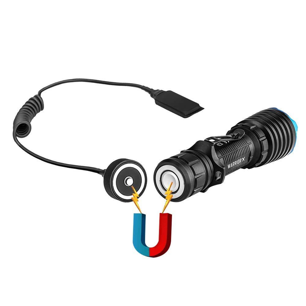 Parfaite pour Airsoft // Chasse // Activit/és Ext/érieures // Sports Nocturnes OLIGHT M2R WARRIOR Lampe Torche 18650 Lampe de Poche LED Puissante MAX 1500 lumens
