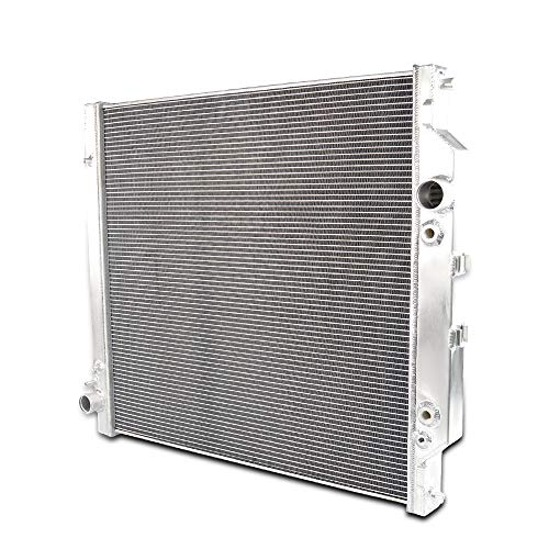 Full Aluminum Racing Radiator Powerstroke For Ford Diesel F250 F350 F450 6.0L 03-07 04 05 06 AT/MT Silver