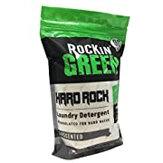 Rockin' Green Natural HE Powder Laundry Detergent for Hard Water, Perfect for Cloth Diapers, 90 Loads, Unscented, 45 oz (0.22/load)