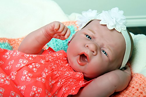 My Angel Baby Girl Lifelike Newborn Reborn Pacifier Doll with beautiful accessories 14 Inches