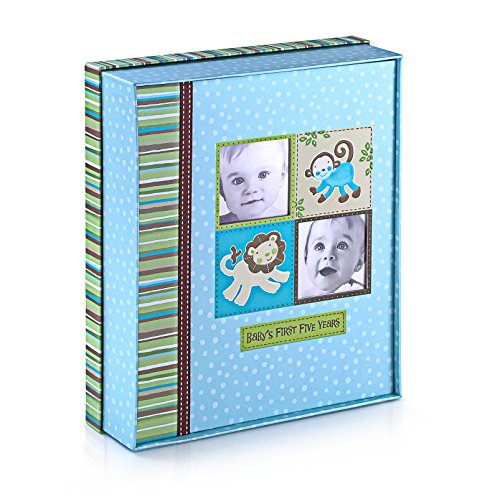 Silly Monkey Baby Boy - Baby's First Five Years Keepsake Record Book with Storage Box 5742500 (Baby Boys Monkey)