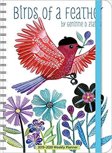 geninne zlatkis 2019 2020 on the go weekly planner 17 month calendar with pocket aug 2019 dec 2020 5 x 7 closed