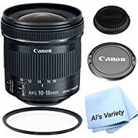 Canon EF-S 10-18mm f/4.5-5.6 IS STM Lens Kit For For Canon DSLR Cameras