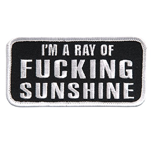 I'M A RAY OF F@CKING SUNSHINE, High Thread Embroidered Iron-On / Saw-On Rayon PATCH - 4