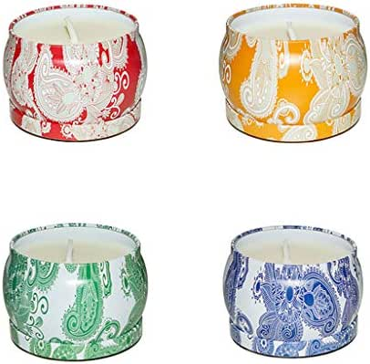 Perfumes for Women Wax and Oils Soy Wax Aromatherapy Scented Natural Soy Wax Candles (Lavender) 8 Ounces. 4PCS (B)