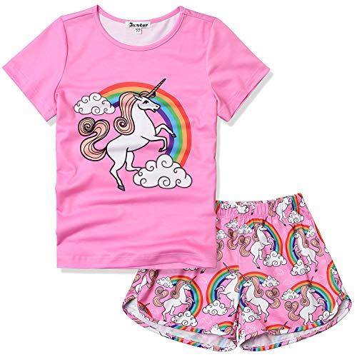 Toddler Girls Unicorn Pjs Sets Pajamas Little Kids 3t 4t Sleep Shirt Pyjama Pink -