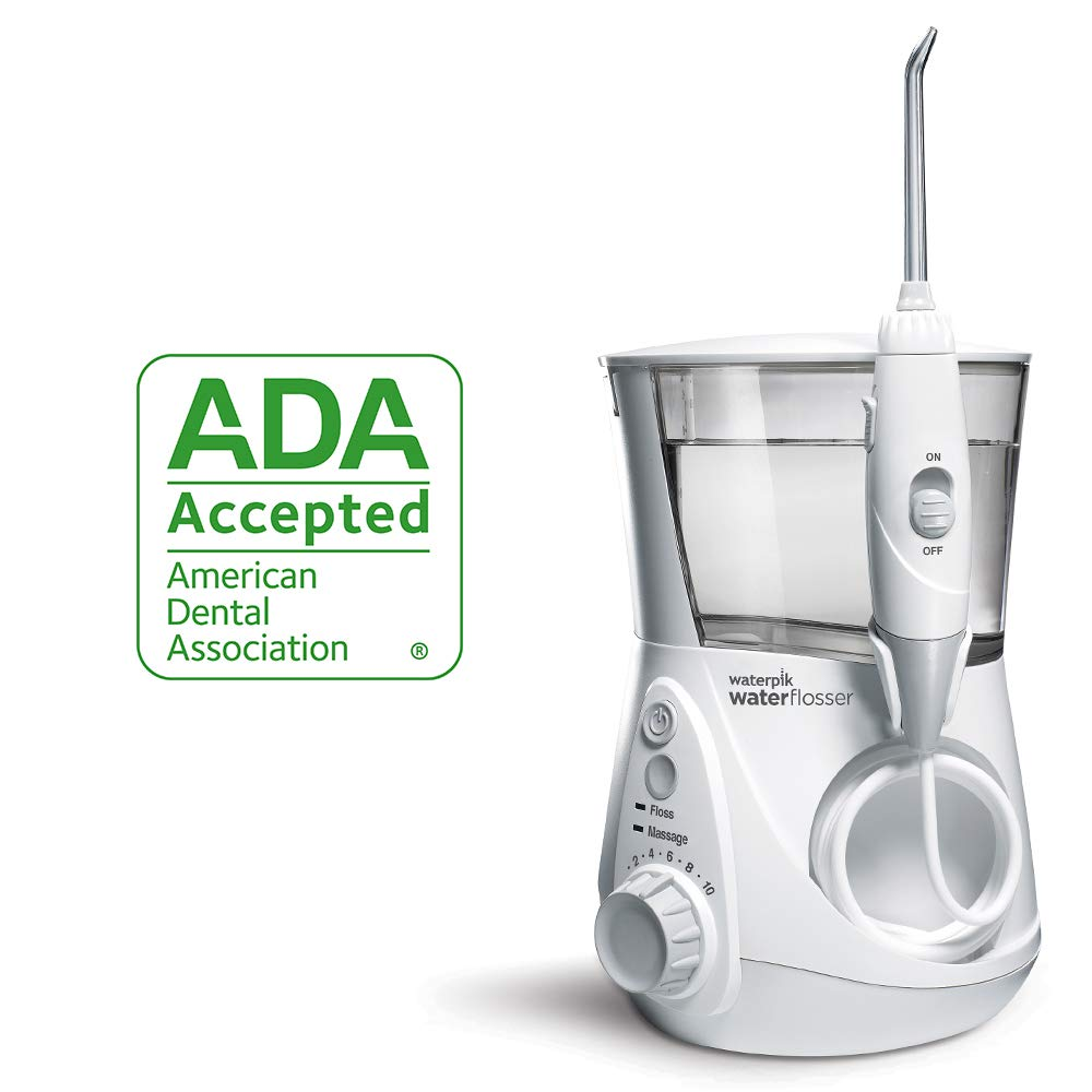 Waterpik Water Flosser Electric Dental Countertop Oral Irrigator For Teeth – Aquarius Professional, WP-660 White