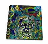 digital art drawing book - 3dRose Trippy Colors Fire Skull Goth Fantasy Abstract Digital Art - Drawing Book, 8 by 8-Inch (db_116258_1)