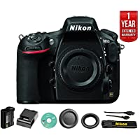 Nikon D810 36.3MP 1080p FX-Format DSLR Camera (Body Only) 1542B + One Year Extended Warranty - (Certified Refurbished)
