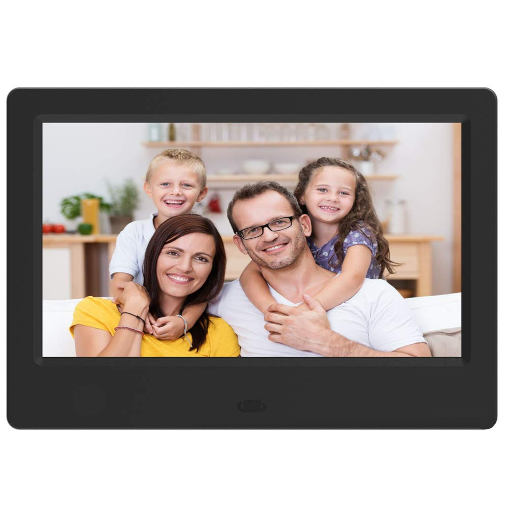 Digital Picture Photo Frame 7-Inches - EMOKILI Digital Photo Frame 1024X600 IPS Screen Resolution with 720P Video Play