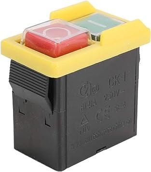 Kkmoon Sicherheitsschalter Ck1 250v Not Aus Sicherer Schalter Wasserdichte Und Staubdichte Schalter Elektromagnetischer Schalter Für Schleifmaschine Universal Baumarkt