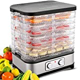 8 Trays Food Dehydrator Machine for Jerky, Meat, Fruits, Vegetable, 400W Dehydrator Machine With Temperature Control Knob Button